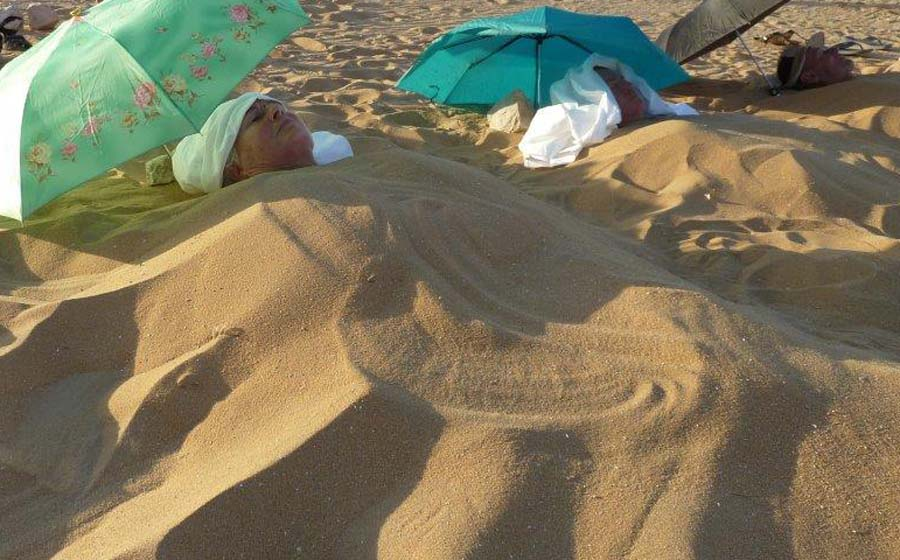 Healing energy from sand